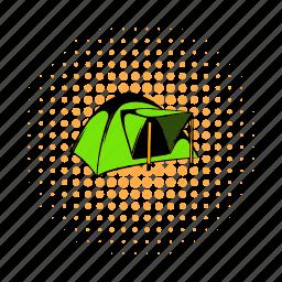 adventure, comics, dome, outdoor, tent, tourist, travel icon