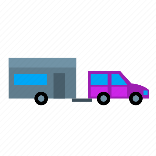 Camping, caravan, home, mobile, tow, towing, trailer icon - Download on Iconfinder