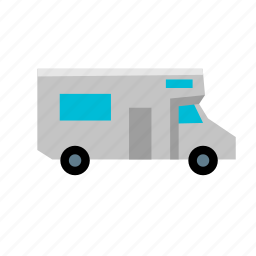 camper, old, recreational, rv, small, trip, vehicle icon