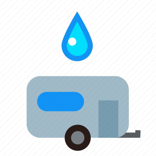 access, camp, connection, source, supply, trailer, water icon