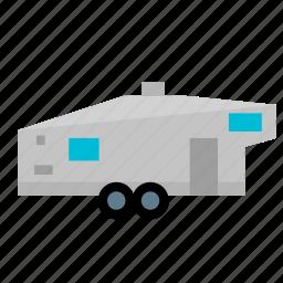caravan, fifth, home, mobile, modern, trailer, wheel icon