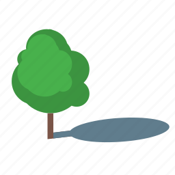 branch, camping, coppice, natural, place, shadow, tree icon