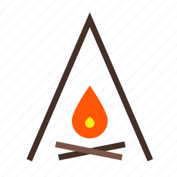 bale, bon, camp, camping, fire, focus, place icon