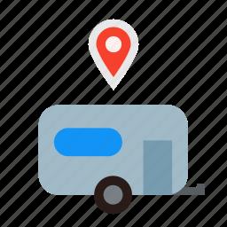 address, camping, landmark, landmarks, location, site, trailer icon
