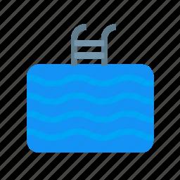 ladder, pool, sea, shore, swim, swimming, swimmingpool icon