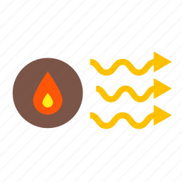 air, forecast, heater, heaters, heating, portable, warm icon