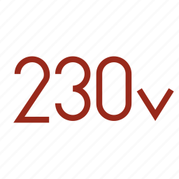 230, connection, current, electricity, power, v, volts icon