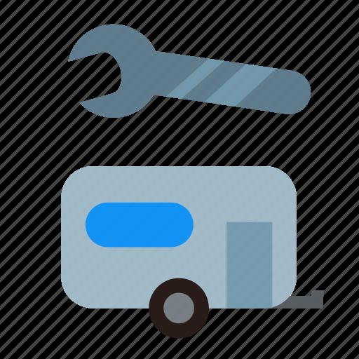 camper, fix, repair, repairing, rv, service, workshop icon