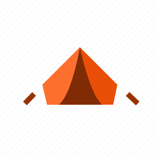 bivouac, camp, deploy, encamp, out, teepee, tent icon
