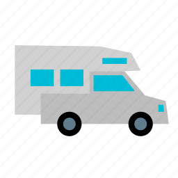 camp, camper, pickup, recreational, rv, truck, vehicle icon
