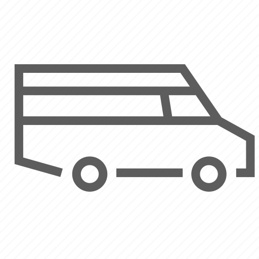 camper, camping, cruising, retro, shuttle, trip, van icon