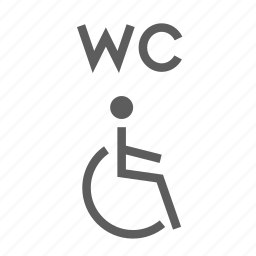 access, disabled, easy, facilities, restroom, wc, wheelchair icon