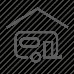 camping, carport, garage, indoor, parking, rv, trailer icon