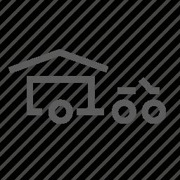 bike, camp, camping, cruising, motorcycle, road trip, tent icon