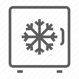 box, fridge, ice, icebox, machine, portable, refrigerator icon