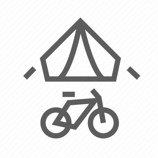 bike, camping, road, tent, tour, travel, trip icon