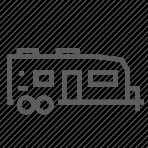 caravan, home, mobile, road, trailer, travel, trip icon