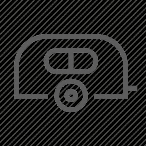 camper, caravan, cheap, old, retro, rv, trailer icon