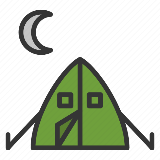 camp, camping, hiking, tent icon