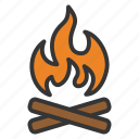 bonfire, camp, campfire, camping, fire