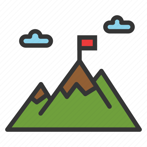 camping, hiking, landscape, mountain, nature icon