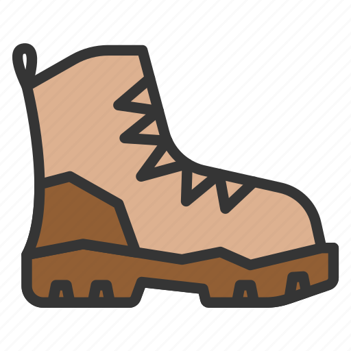 boot, boots, camping, hiking, shoe icon