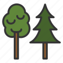 camping, forest, outdoor, trees, wild icon