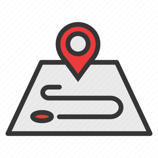 camping, gps, location, map, marker icon