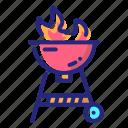 bbq machine, cook, cooking, griller