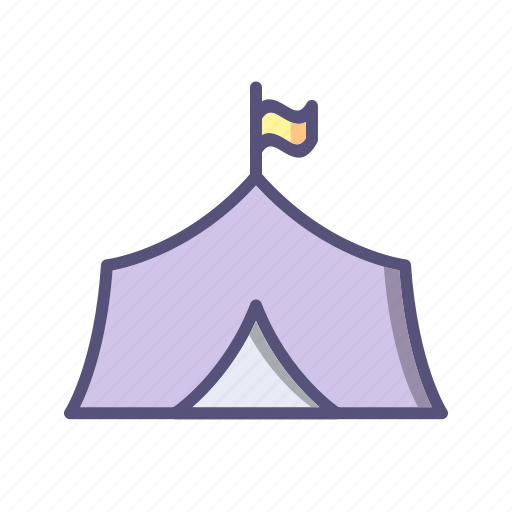 camping, outdoor, tent, tipi icon
