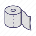 paper, roll, toilet paper, washroom, wipe icon