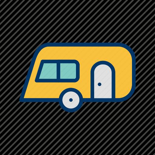 camping, caravan, outdoor, travel icon