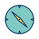 compass, direction, location, navigation icon