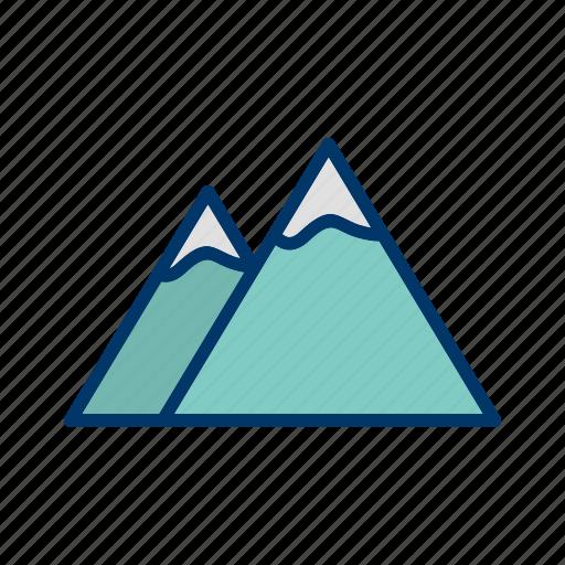 adventure, mountain, mountains, nature icon