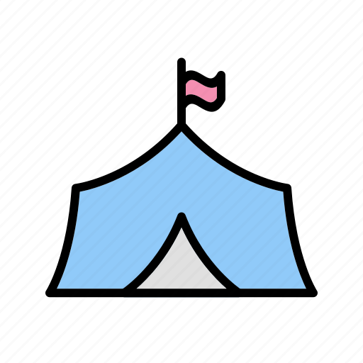 camp, tent, tipi icon