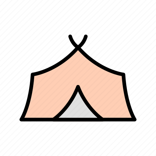 camp, outdoors, tent, tipi icon