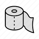 toilet paper, washroom, wipe icon