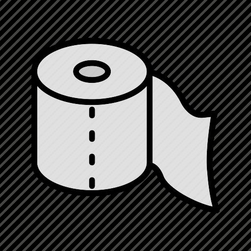 roll, toilet, toilet paper, washroom, wipe icon