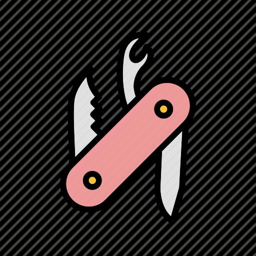 army, knife, swiss army knife, weapon icon
