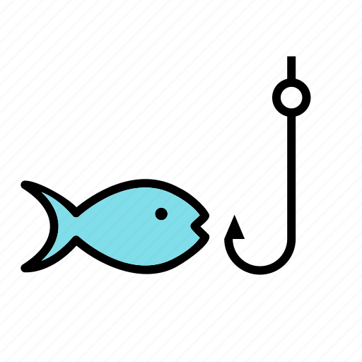 fish, fishing, hook, rod icon