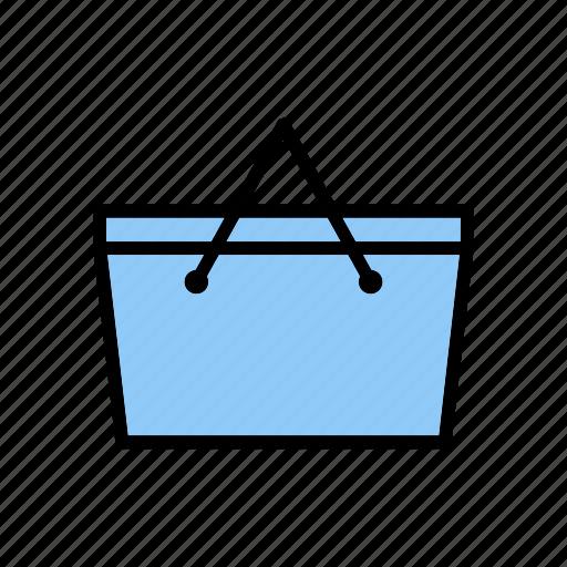 basket, camping, cart, food icon