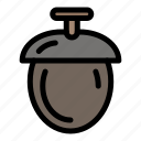 forest, nuts, seeds icon