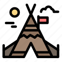 camp, canada, fire, work icon