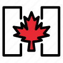 autumn, canada, flag, leaf icon