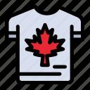 autumn, canada, leaf, maple, shirt icon