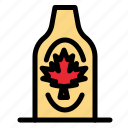 autumn, bottle, canada, leaf, maple icon