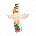 animal, bird, cartoon, design, ethnic, totem, tribal icon