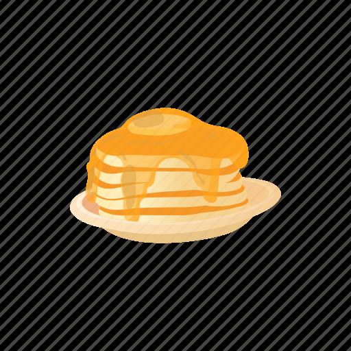 breakfast, cartoon, delicious, dessert, food, pancake, sweet icon