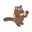 animal, beaver, canada, canadian, cartoon, fur, wildlife icon