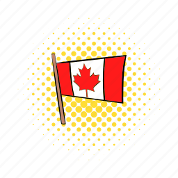 canada, canadian, comics, flag, maple, national, red icon